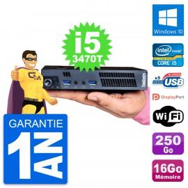 Ultra Mini PC Lenovo M92p Tiny i5-3470T RAM 16Go Disque 250Go Windows 10 Wifi