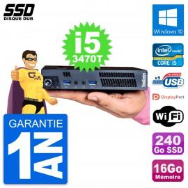 Ultra Mini PC Lenovo M92p Tiny Intel i5-3470T RAM 16Go SSD 240Go Windows 10 Wifi