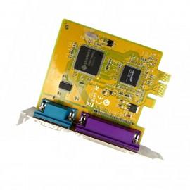 Carte Parallèle Série IEEE1284 LPT DB-25 RS-232 PCI-e SUNIX MI05469A 0GP385