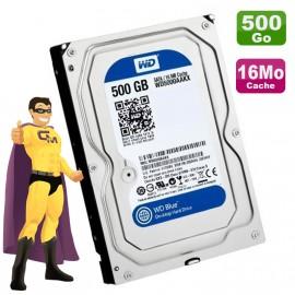 "Disque Dur 500Go SATA 3.5"" WD Western Digital Caviar Blue WD5000AAKX 7200 16Mo"