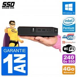 Ultra Mini PC Dell 3020 Micro USFF G3250T RAM 4Go SSD 240Go Windows 10 Wifi