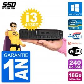 Ultra Mini PC Dell 3020 Micro USFF i3-4130T RAM 16Go SSD 240Go Windows 10 Wifi
