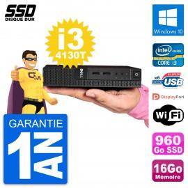 Ultra Mini PC Dell 3020 Micro USFF i3-4130T RAM 16Go SSD 960Go Windows 10 Wifi