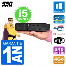 Ultra Mini PC Dell 3020 Micro USFF i5-4570T RAM 4Go SSD 240Go Windows 10 Wifi