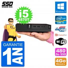 Ultra Mini PC Dell 3020 Micro USFF i5-4570T RAM 4Go SSD 480Go Windows 10 Wifi