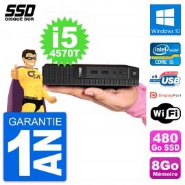Ultra Mini PC Dell 3020 Micro USFF i5-4570T RAM 8Go SSD 480Go Windows 10 Wifi