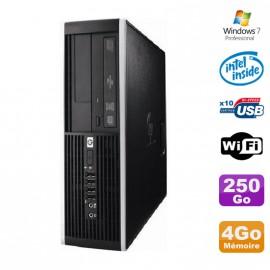 PC HP Elite 6000 Pro SFF E5400 2.7Ghz 4Go Disque 250Go WIFI W7 Pro