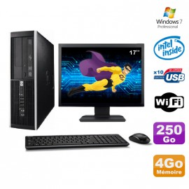 Lot PC HP Elite 6000 Pro SFF E5400 2.7Ghz 4Go Disque 250Go WIFI W7 Pro +Ecran17""