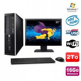 """Lot PC HP Elite 6000 Pro SFF E5400 2.7Ghz 16Go Disque 2To WIFI W7 Pro + Ecran 22"""""""