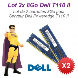 Lot 2x 8Go 16Go Ram Serveur Dell T110 II DIMM 240-PIN DDR3 PC3-12800E ECC 2Rx8