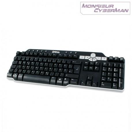 Clavier Multimedia Dell SK-8135 AZERTY 0DJ348 Keyboard Slim Hub USB