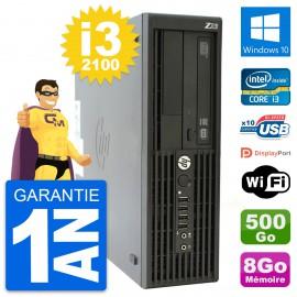 PC HP WorkStation Z210 SFF Core i3-2100 RAM 8Go Disque 500Go Windows 10 Wifi