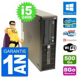 PC HP WorkStation Z210 SFF Core i5-2400 RAM 8Go Disque 500Go Windows 10 Wifi