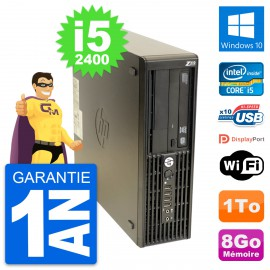 PC HP WorkStation Z210 SFF Core i5-2400 RAM 8Go Disque 1To Windows 10 Wifi