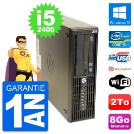 PC HP WorkStation Z210 SFF Core i5-2400 RAM 8Go Disque 2To Windows 10 Wifi