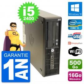PC HP WorkStation Z210 SFF Core i5-2400 RAM 16Go Disque 500Go Windows 10 Wifi