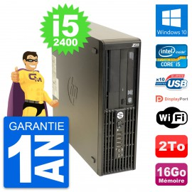 PC HP WorkStation Z210 SFF Core i5-2400 RAM 16Go Disque Dur 2To Windows 10 Wifi