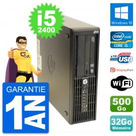 PC HP WorkStation Z210 SFF Core i5-2400 RAM 32Go Disque 500Go Windows 10 Wifi