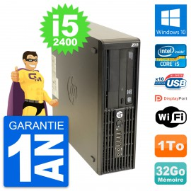 PC HP WorkStation Z210 SFF Core i5-2400 RAM 32Go Disque 1To Windows 10 Wifi
