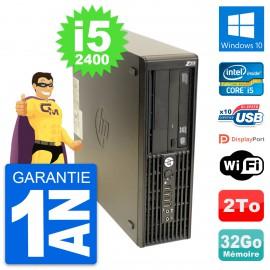 PC HP WorkStation Z210 SFF Core i5-2400 RAM 32Go Disque 2To Windows 10 Wifi
