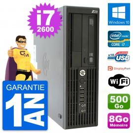 PC HP WorkStation Z210 SFF Core i7-2600 RAM 8Go Disque 500Go Windows 10 Wifi