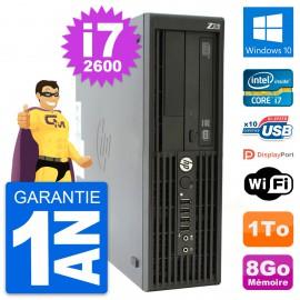 PC HP WorkStation Z210 SFF Core i7-2600 RAM 8Go Disque 1To Windows 10 Wifi