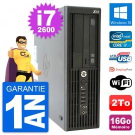 PC HP WorkStation Z210 SFF Core i7-2600 RAM 16Go Disque Dur 2To Windows 10 Wifi