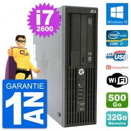 PC HP WorkStation Z210 SFF Core i7-2600 RAM 32Go Disque 500Go Windows 10 Wifi