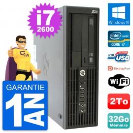 PC HP WorkStation Z210 SFF Core i7-2600 RAM 32Go Disque 2To Windows 10 Wifi