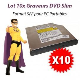 Lot 10x GRAVEURS Lecteurs DVD-RW SLIM Drive SATA PC Portable SFF