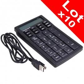 Lot x10 Pavé Numérique Usb PC Portable Calculatrice R-720172-2 AS-2169 Laptop