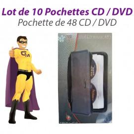 Lot de 10 Sacoches Rangement Tekuni 48 CD Housses Classeurs CD-6148 DVD Pro NEUF