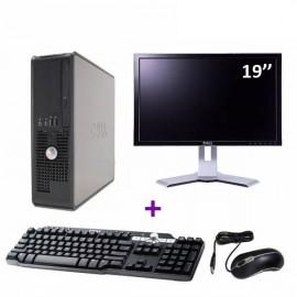 Lot Pc DELL GX520 SFF Intel P4 2.8Ghz 2Go DDR2 Combo 40Go SATA XP Pro + Ecran 19