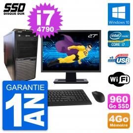 """PC Tour Acer M2630G Ecran 27"""" Intel i7-4790 RAM 4Go SSD 960Go Windows 10 Wifi"""