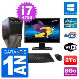 """PC Tour Acer M2630G Ecran 27"""" Intel i7-4790 RAM 8Go Disque 2To Windows 10 Wifi"""