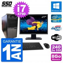 """PC Tour Acer M2630G Ecran 27"""" Intel i7-4790 RAM 8Go SSD 240Go Windows 10 Wifi"""