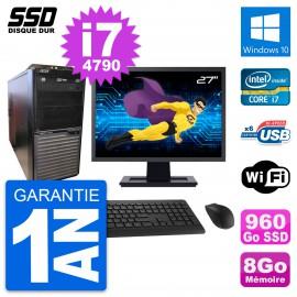 """PC Tour Acer M2630G Ecran 27"""" Intel i7-4790 RAM 8Go SSD 960Go Windows 10 Wifi"""