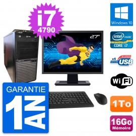 """PC Tour Acer M2630G Ecran 27"""" Intel i7-4790 RAM 16Go Disque 1To Windows 10 Wifi"""