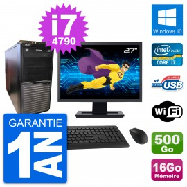 "PC Tour Acer M2630G Ecran 27"" Core i7-4790 RAM 16Go Disque 500Go Windows 10 Wifi"