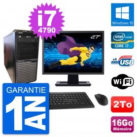 """PC Tour Acer M2630G Ecran 27"""" Intel i7-4790 RAM 16Go Disque 2To Windows 10 Wifi"""