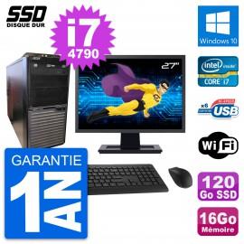 """PC Tour Acer M2630G Ecran 27"""" Intel i7-4790 RAM 16Go SSD 120Go Windows 10 Wifi"""