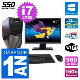 """PC Tour Acer M2630G Ecran 27"""" Intel i7-4790 RAM 16Go SSD 960Go Windows 10 Wifi"""