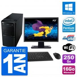 "PC Tour Acer M2611G Ecran 19"" Intel G630 RAM 16Go Disque 250Go Windows 10 Wifi"
