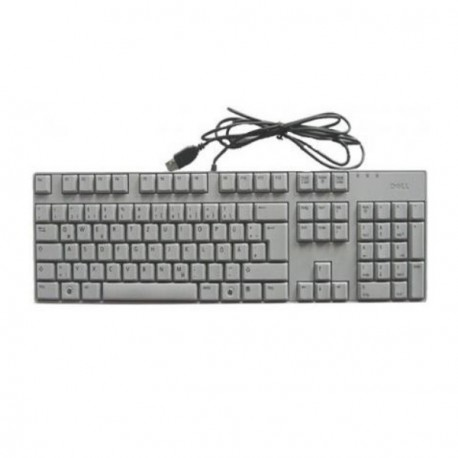 Clavier Azerty Usb DELL SK-8175T 0R431F Pc Keyboard Kb Slim Fin Optiplex Gx Gris
