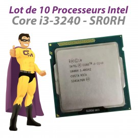 Lot x10 Processeurs CPU Intel Core I3-3240 SR0RH 3.4Ghz 3Mo 5GT/s FCLGA1155