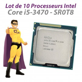 Lot x10 Processeurs CPU Intel Core I5-3470 SR0T8 3.2Ghz 6Mo 5GT/s FCLGA1155