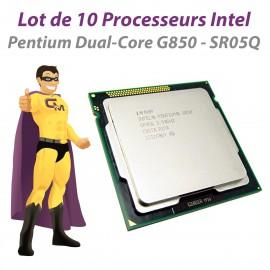 Lot x10 Processeurs CPU Intel Pentium G850 SR05Q 2.9Ghz 5GT/s LGA1155 Dual Core