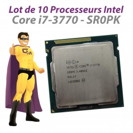 Lot x10 Processeurs CPU Intel Core I7-3770 SR0PK 3.4Ghz 8Mo 5GT/s FCLGA1155