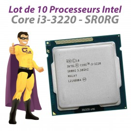 Lot x10 Processeurs CPU Intel Core i3-3220 3.3Ghz 3Mo SR0RG 5GT/s FCLGA1155