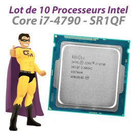 Lot x10 Processeurs CPU Intel 4 Core i7-4790 SR1QF 3.6Ghz FCLGA1150 8Mo 5GT/s